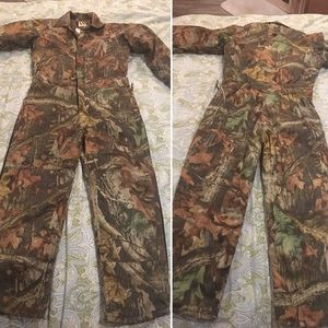 Walls Outdoor Insulated Camo Hunting Coveralls